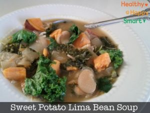 Sweet Potato and Lima Bean Soup - Healthy Vegetarian Recipe