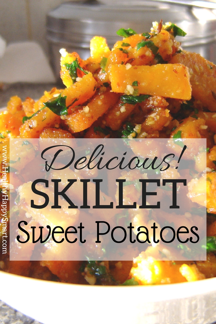 skillet sweet potatoes - delicious side dish for any occasion. goes great with most dinner meals.