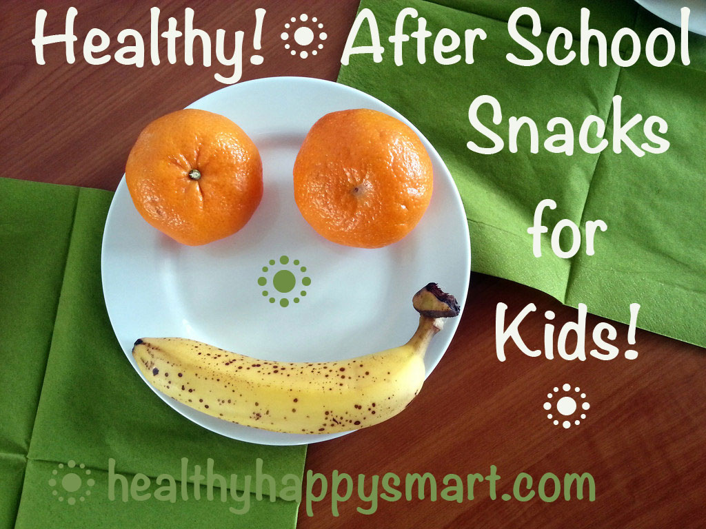 Healthy After School Snack Ideas for Kids • healthy kid snacks • healthy happy smart