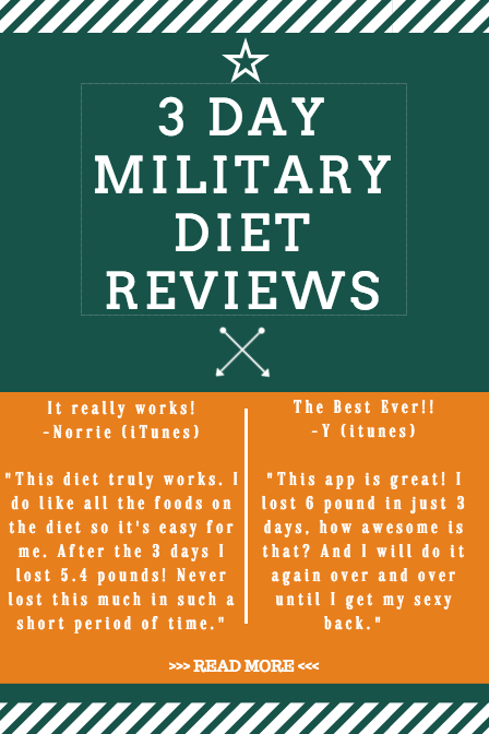 3 day military diet reviews - does the 3 day diet really work? What are people saying about this diet, what are some 3 day military diet results?