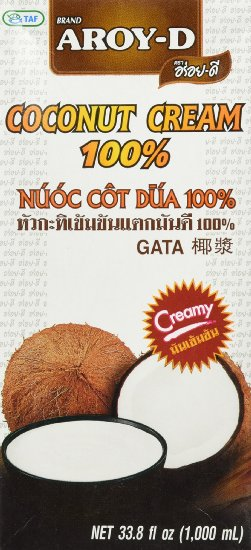 aroy-d pure coconut cream for coffee - non dairy creamer