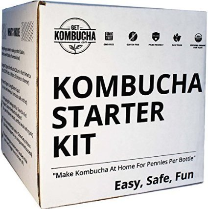 Get Kombucha box - order now! and learn how to make your own homemade kombucha!