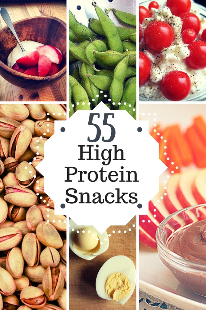 55 High Protein Snacks - clean eating & healthy. High protein snacks for weight loss.