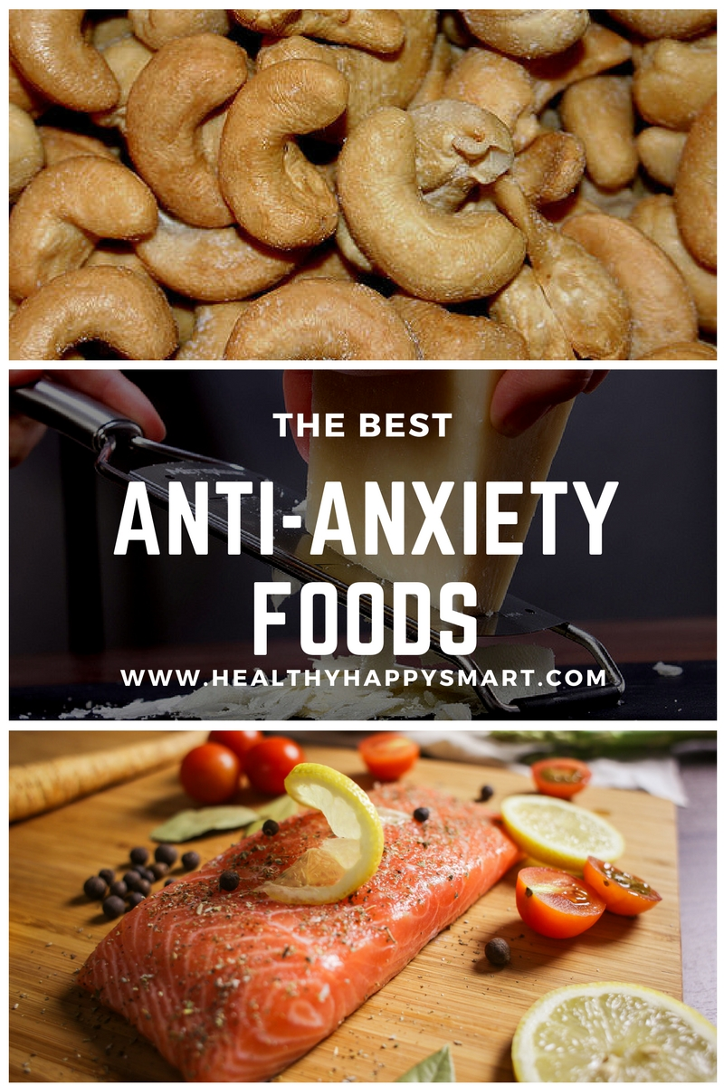 The best Anti anxiety foods, foods for anxiety and stress.