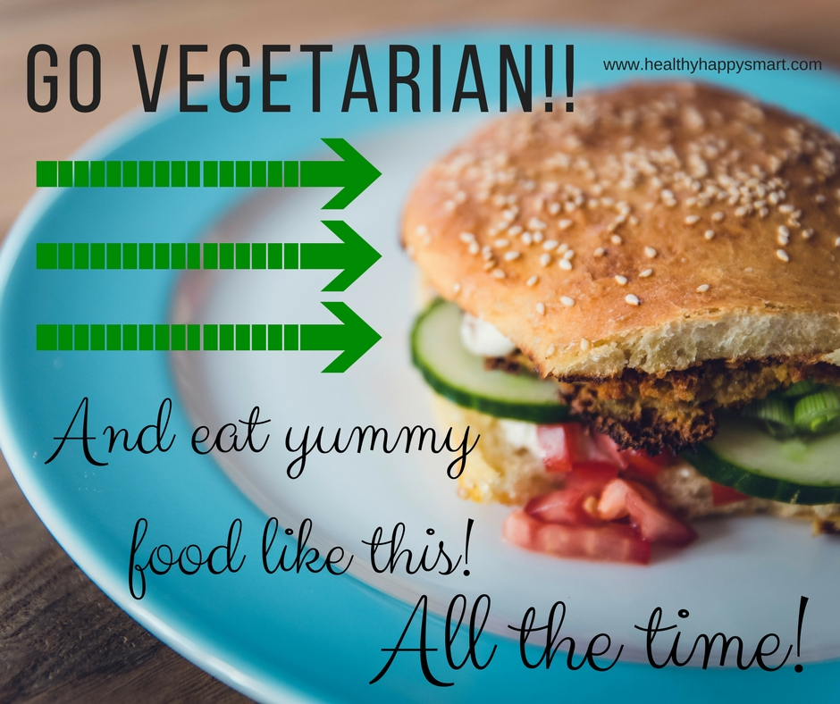 Go Vegetarian - free vegetarian meal plan - 7 day meal plan, breakfast lunch dinner and snack.