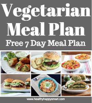 Vegetarian meal plan - free 7 day meal plan