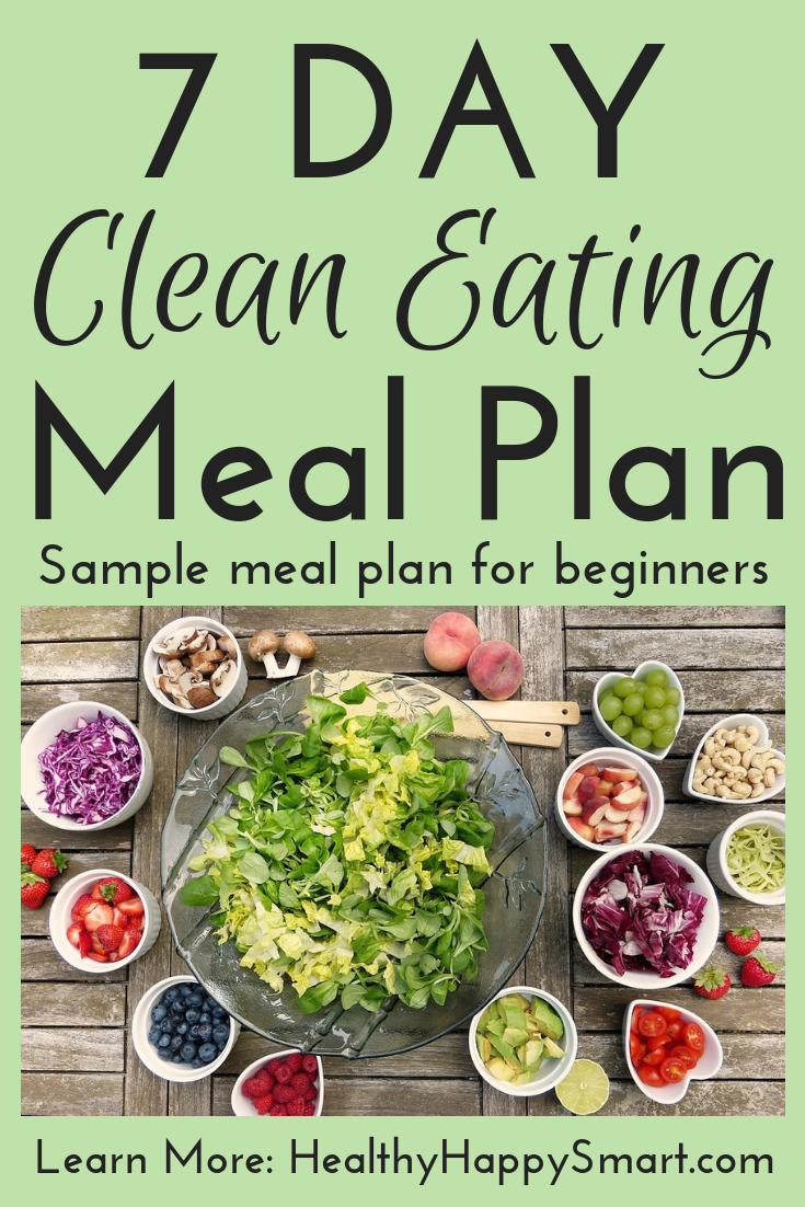 Clean eating meal plan sample for beginners.