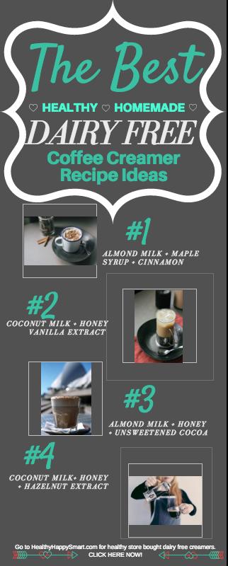 non-dairy coffee creamer recipes! #paleo #glutenFree | Healthy Clean Eating Dairy Free creamer. - Best non dairy creamer + paleo coffee creamer.