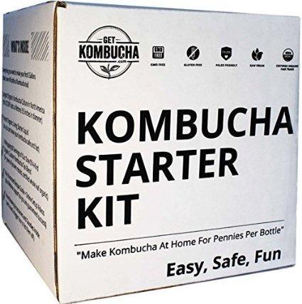 Get Kombucha box - order now! and learn how to make your own homemade kombucha!