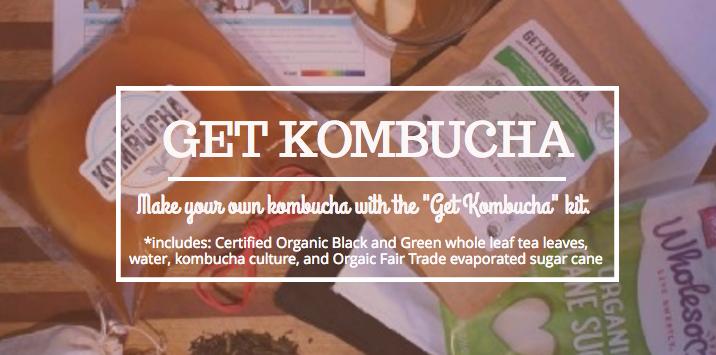 get kombucha: how to make homemade Kombucha - a starter kit - make 80 bottles on your own using this starter kit