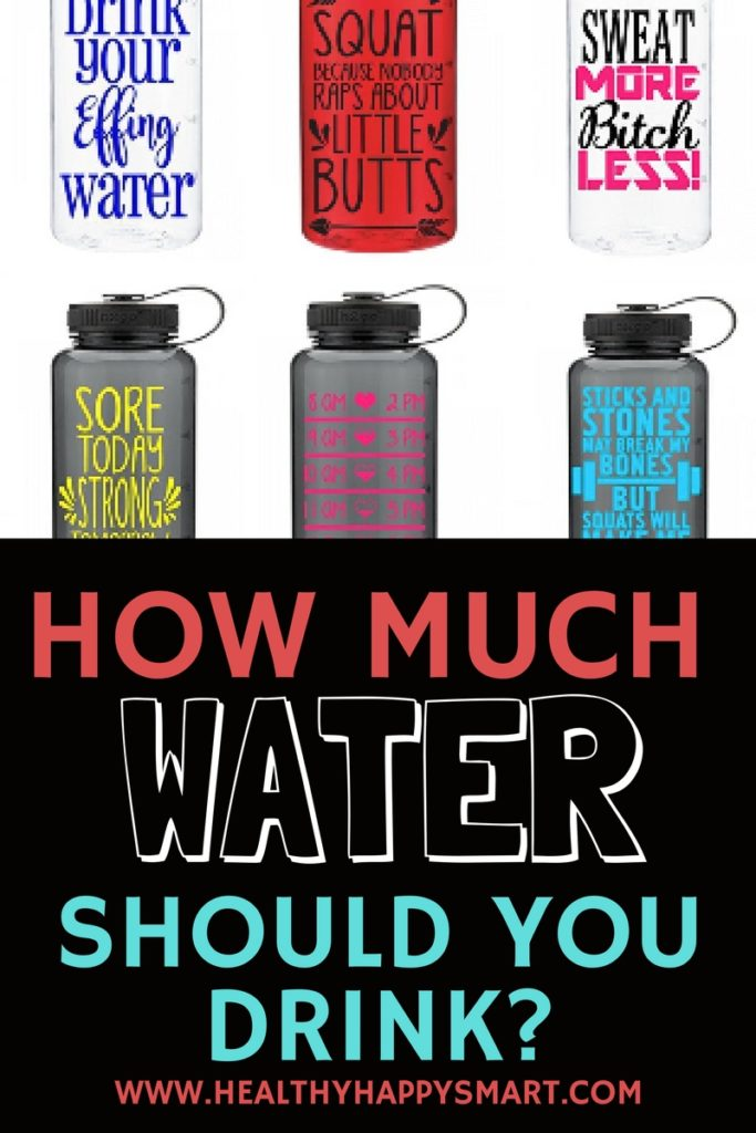 How much water should you drink everyday? Motivating water bottles might help!