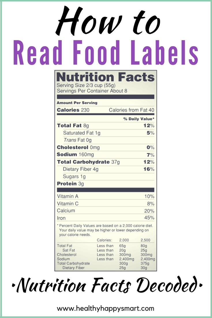 How to read food labels nutrition facts healthy happy for American cuisine facts