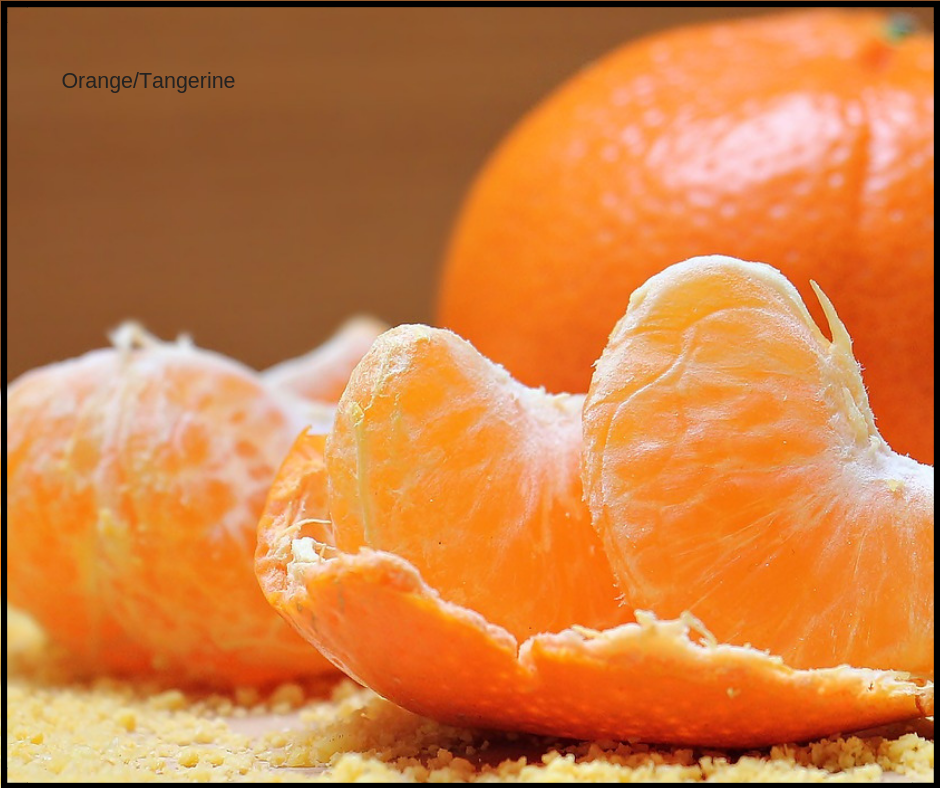 vitamin C and orange boost your mood!
