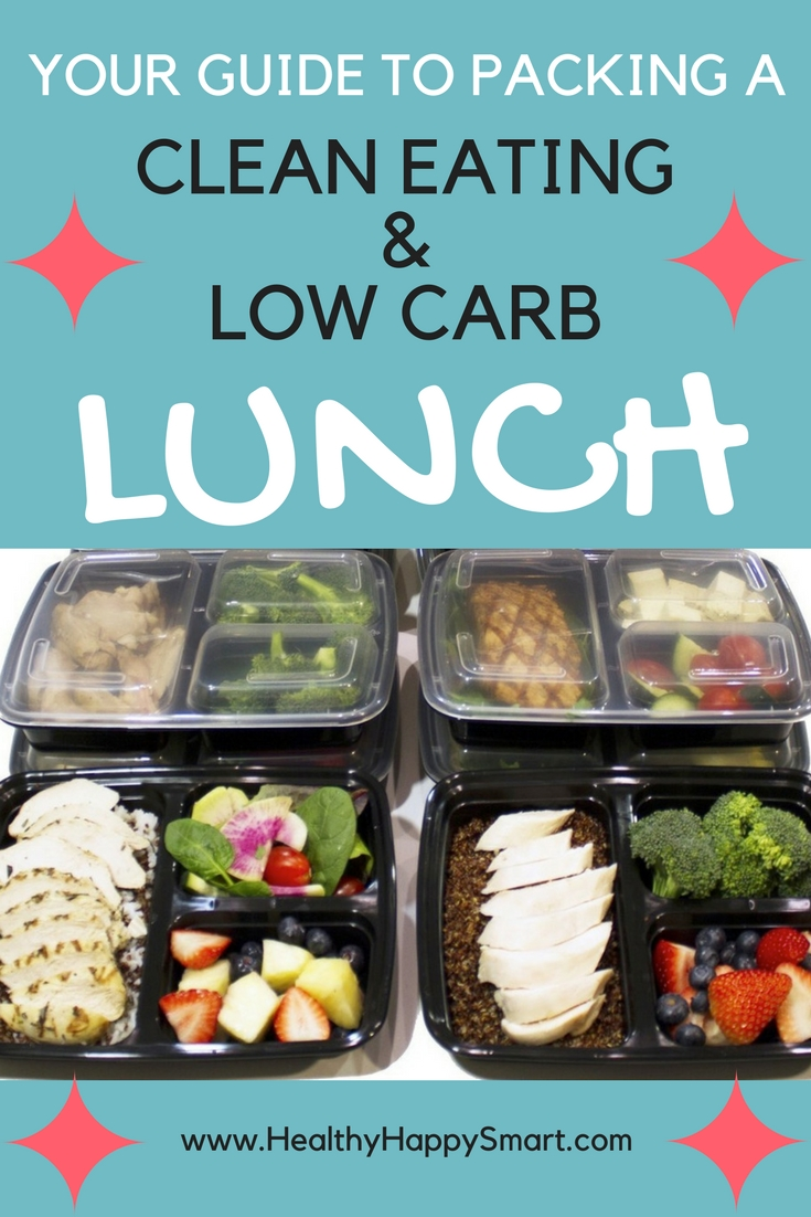 low carb lunch - healthy lunches for work - healthy low carb clean eating.
