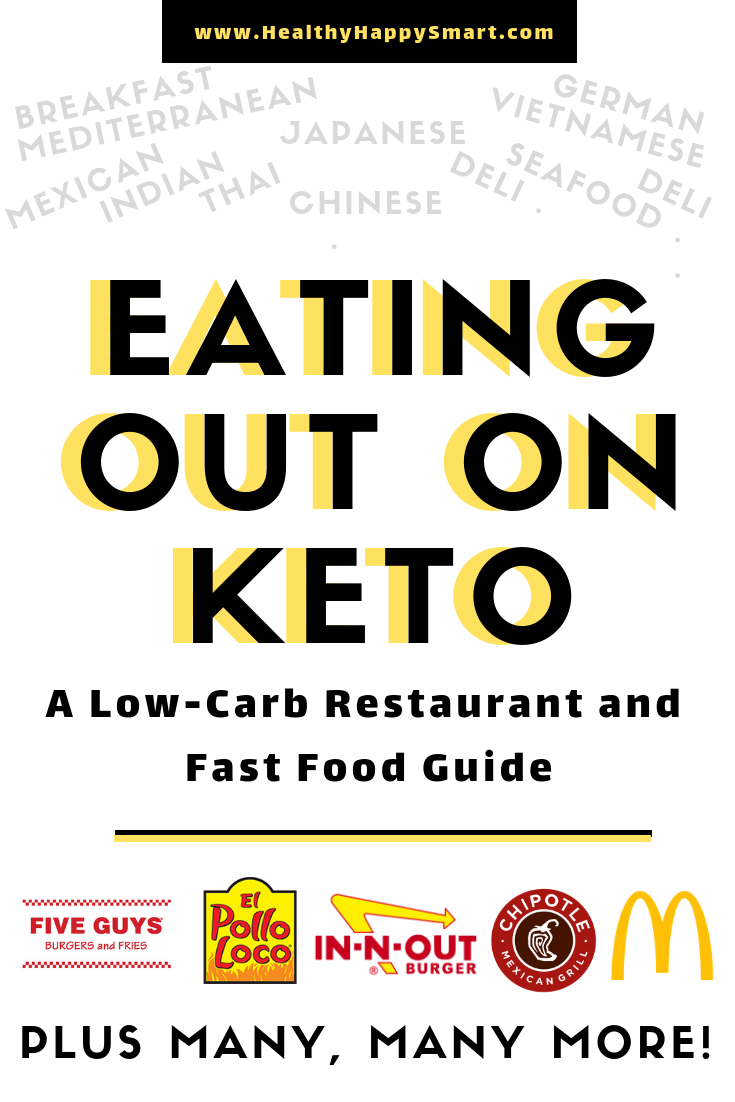 Eating out on Keto guide. Fast food, restaurants, many different cuisines! Learn how to eat carb while eating out.